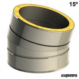 Tubo inox Codo 15º JECODO15