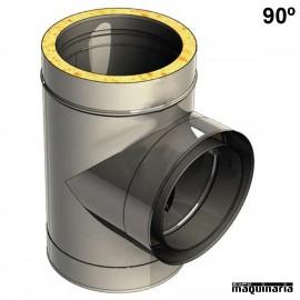 Tubo acero inox TE 90º JETE90