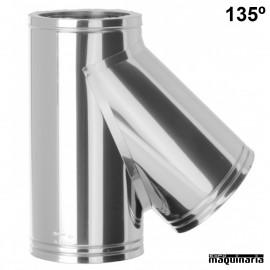 Tubo acero inox TE 135º JETE135