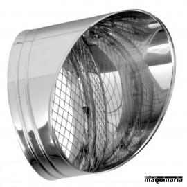 Tubo inox Salida Horizontal con rejilla