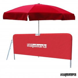 Parasol playa con pincho arena + Separador KIT