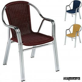 Sillon bar Aluminio 2R84 apilable