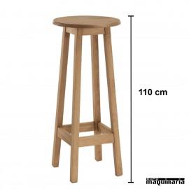 Mesa alta madera 110 cm JOMAA110CM-R