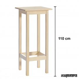 Mesa alta madera JOMAA110CM-C Cuadrada