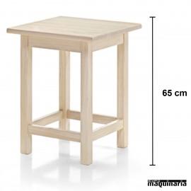 Mesa baja madera JOMBA65CM-C Cuadrada