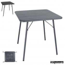 Mesa plegable terraza laminas de acero NICS732