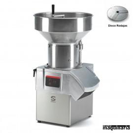 Corta verduras SCCA-601, 1000Kg/h Tolva Semiautomática