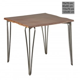 Mesa estilo industrial 3R008MAD madera