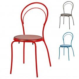 Silla metalica colores 1R008 cafetería