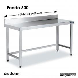 Mesa MURAL Acero Inox Fondo 600 SIN ESTANTE