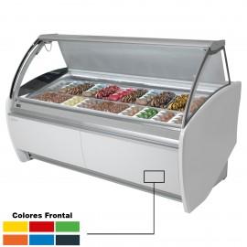 Vitrina helado Cristal Curvo INVAR12H+