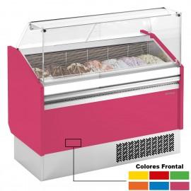 Mostrador para helados Cristal Recto INVBZ12S+