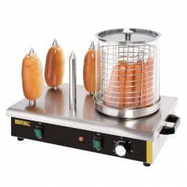 Maquina de hacer perritos NIDA566 4 Pinchos llena