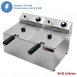 Freidora hosteleria eléctrica 6+6 Litros IBER-FRY6+6