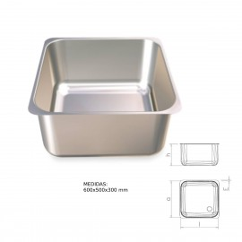 Fregadero inox rectangular para soldar