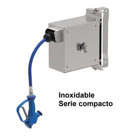 Grifo manguera enrollable inoxidable serie compacto