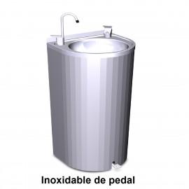 Fuente de columna inox de pedal