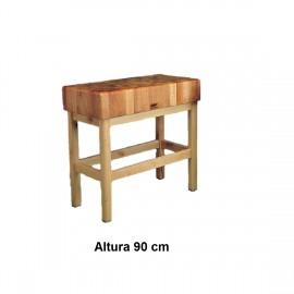 Tajo de 4 patas de madera