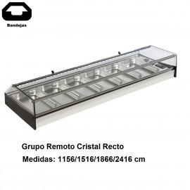 Vitrina tapas Cubetas Grupo remoto recta VGMAR-FR