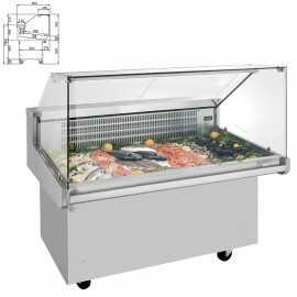 Vitrina expositora refrigerada pescado IMVRP