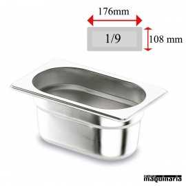 Cubeta Gastronorm INOX GN 1/9