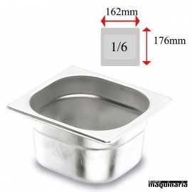 Cubeta Gastronorm INOX GN 1/6