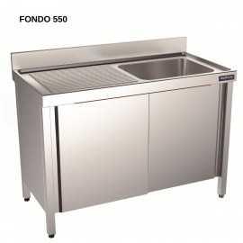 Fregadero con bastidor FONDO 55 DIFBPD55