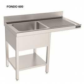 Fregadero 2 pozas, espacio lavavajillas y estante FONDO 60 DIFBILE618