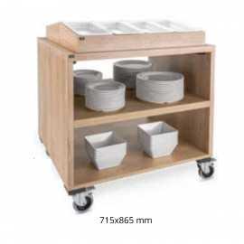 Carros de buffet para menaje Roble PUP90.8132