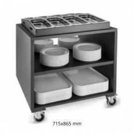 Carros de buffet para menaje Negro PUP90.813