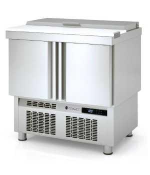 Mesas frias para ensaladas tapa INOX COMFS-100
