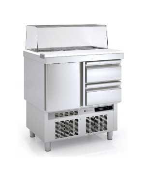 Mesas frias para ensaladas cupula cristal COMFS-100-C