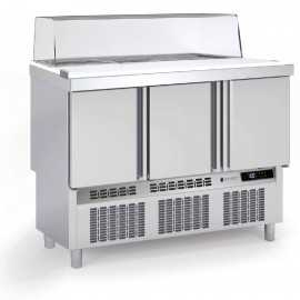 Mesas frias para ensaladas cupula cristal COMFS-140-C