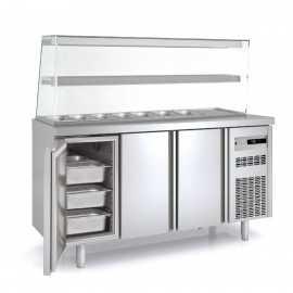 Mesa de ingredientes Kebab 2 pisos COMFK70-180