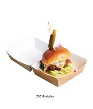 Caja hamburguesa carton 250uds NIGE802