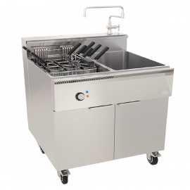 Cuece pastas industrial con Enfriador RECP800RT