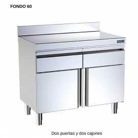 Mueble neutro F60 2 puerta mural DIF00781