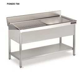 Fregadero con bastidor y estante FONDO 70 DIFB0E7070