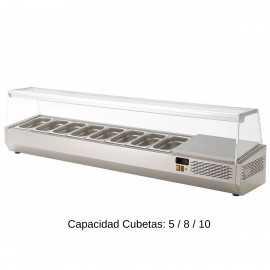 Expositor de Ingredientes Tapa Cristal EDEIV-135 HC