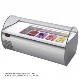 Vitrina de helados sobremesa 90(L) cm MFMICROGEL3