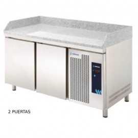 Mesa de preparacion de pizza Granito EDMPG-135 HC GR