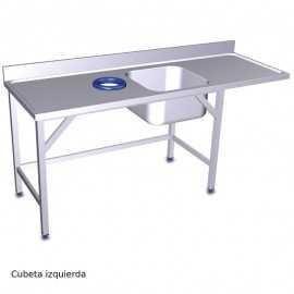 Mesa fregadero con Aro desbarazado y estante FR074435