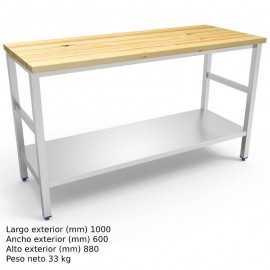 Mesa de trabajo cocina Encimera Madera FR076808