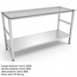 Mesa de trabajo cocina Encimera Cristal FR076878