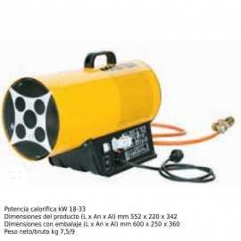 Cañon de calor a gas electrónico 1000m³/h ECBLP 33ET