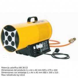 Cañon de calor a gas electrónico 1450m³/h ECBLP 53ET