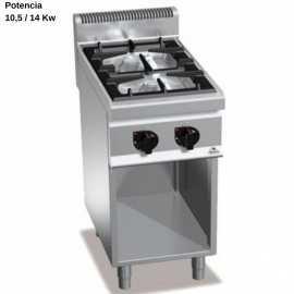 Cocina gas industrial 2 Fuegos RMG7F2