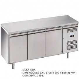 Mesa fria 3 puertas Fondo 60 DUG-SNACK3100TN-FC