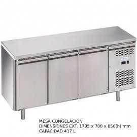 Mesa congelacion 3 puertas DUG-GN3100BT-FC