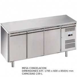 Mesa congelacion 3 puertas Fondo 60 DUG-SNACK3200TN-FC